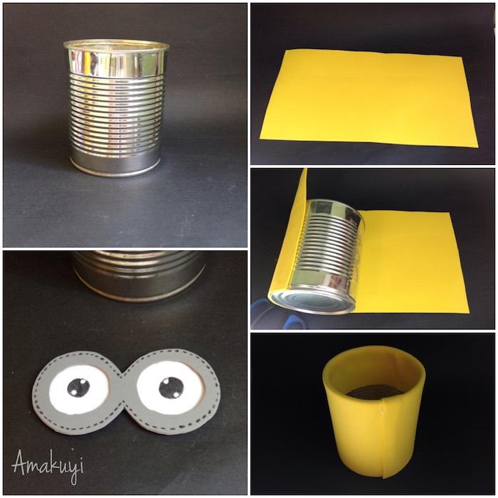 proceso para transformar una lata en un portalápices