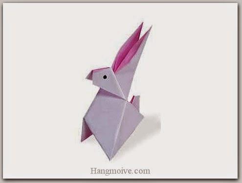 Cách gấp, xếp con thỏ bằng giấy origami - Video hướng dẫn xếp hình Động vật - How to fold a Rabbit