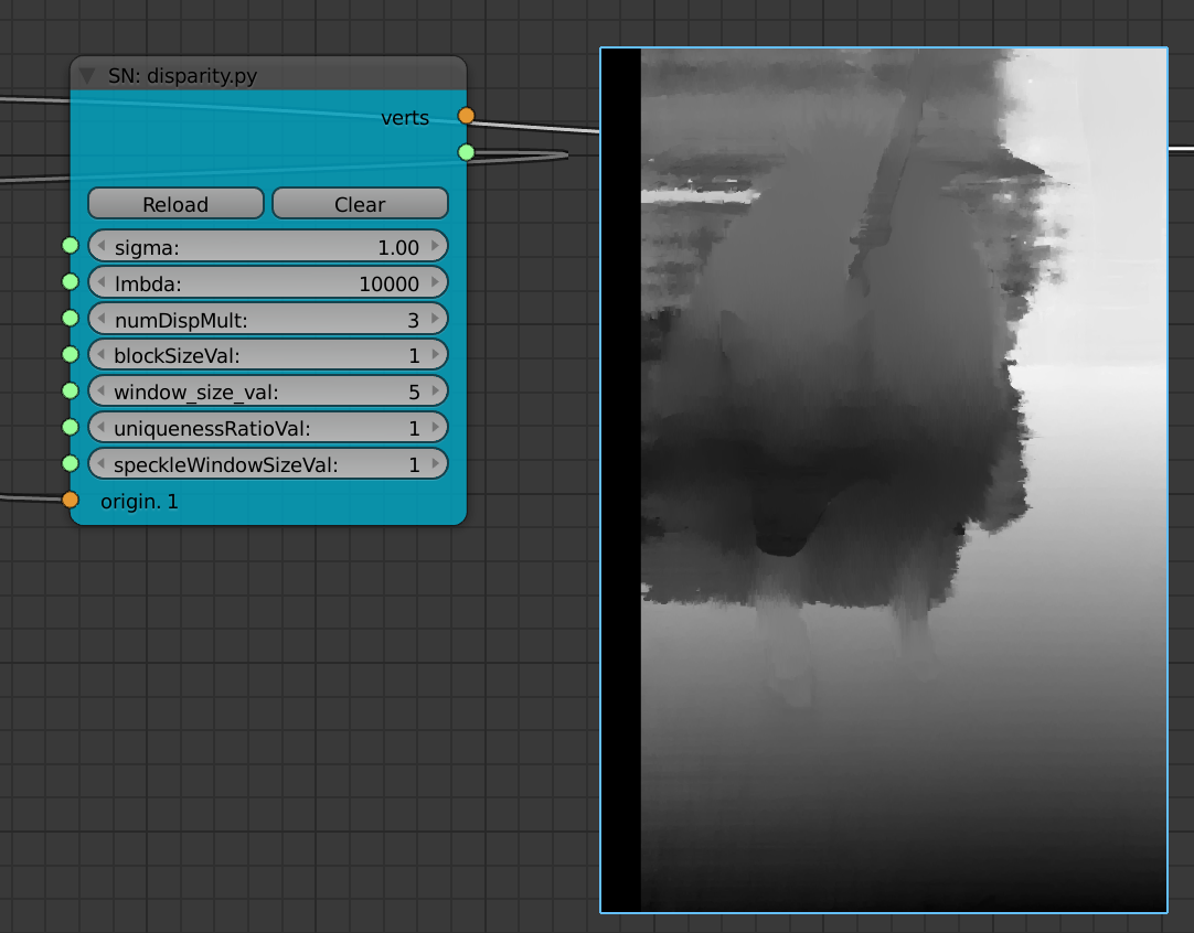 Estimating Depth Map from Disparity of Stereo Pair Photos | Blender