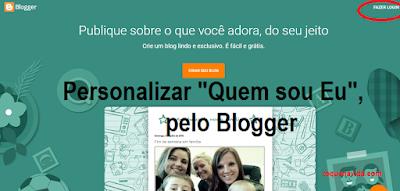 Personalizar Quem sou Eu, pelo Blogger.