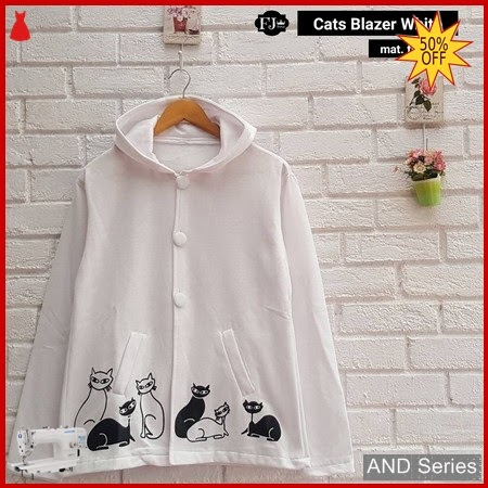 AND386 Blazer Wanita Cats Blazer Putih BMGShop