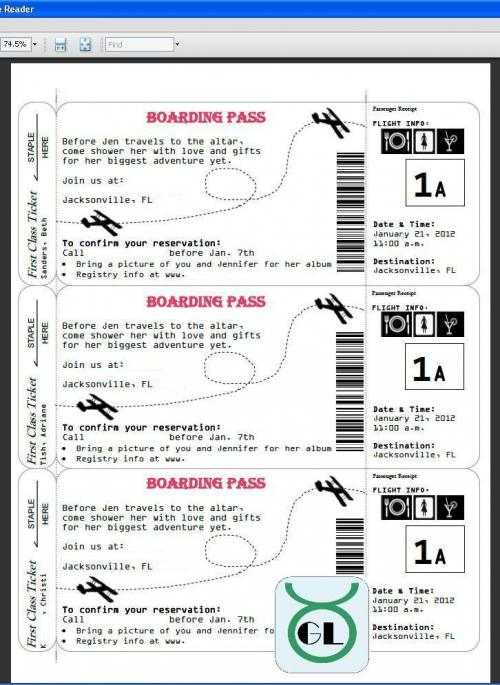 Freebie DIY boarding pass wedding invitation, download the free - free printable guest list