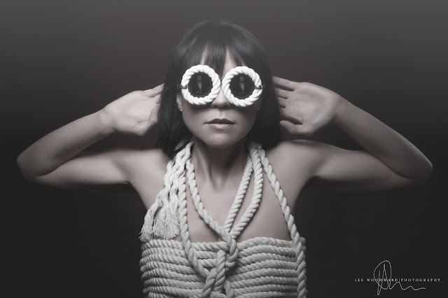 mystic magic, shades of grey, fifty shades of grey, bondage, high fashion photography, photo, creative photography, rope, designer sun glasses, couture fashion,
