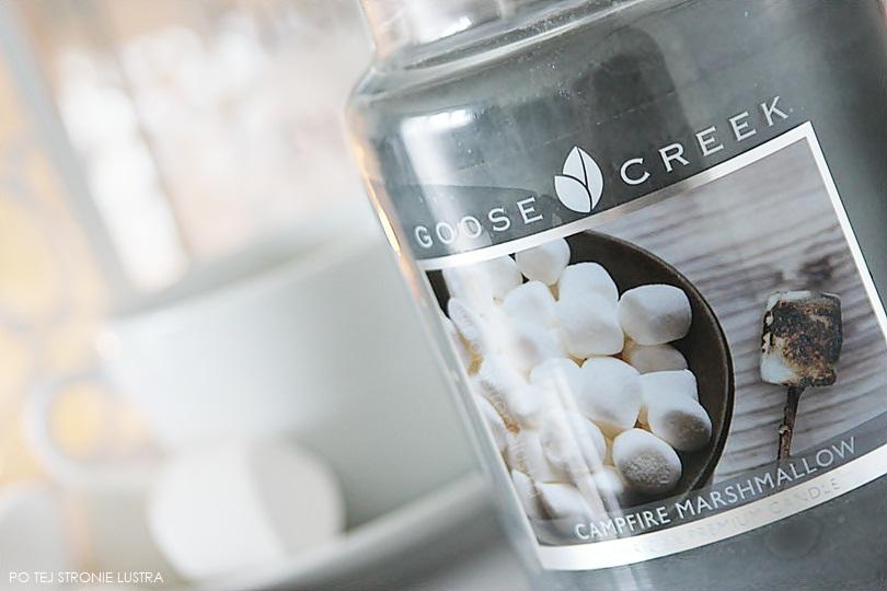 etykieta swiecy goose creek campfire marshmallow