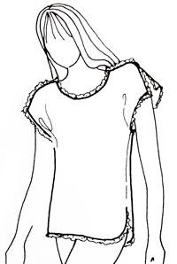 Комплект для сна: футболка и шорты с запахом