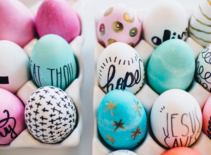 Decoraci n f cil 9 diy para decorar huevos de pascua - Videos de huevos de pascua ...