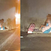 Netizen Shares Touching Photo of Homeless Mom Playing with Her Son at Sidewalk