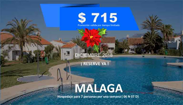 imagen  Plan familiar  Malaga para 07 personas diciembre 2018