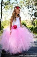 designer long pink tutu girls