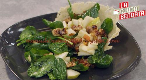 La Cuoca Bendata - Insalata di pere noci e gorgonzola ricetta Parodi