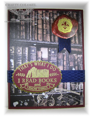 CraftyColonel Donna Nuce for #SOSS B is for books.  Club Scrap Ivy League.