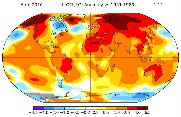 NASA temperature data shows last month was hottest April on record
