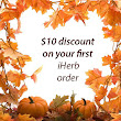 $10 off your first iHerb order of $40 or more