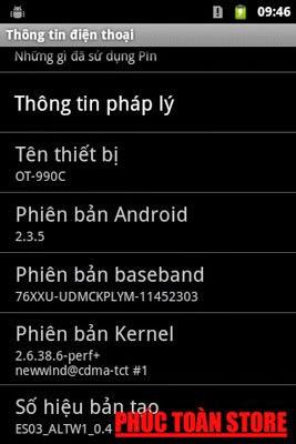 Tiếng Việt Alcatel OT990C alt