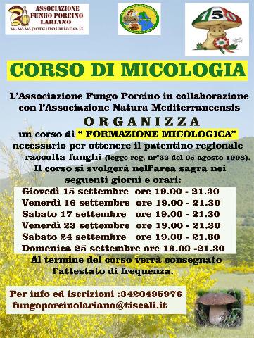 Calendario Funghi.Naturamediterraneensis Corso Di Formazione Micologica Per