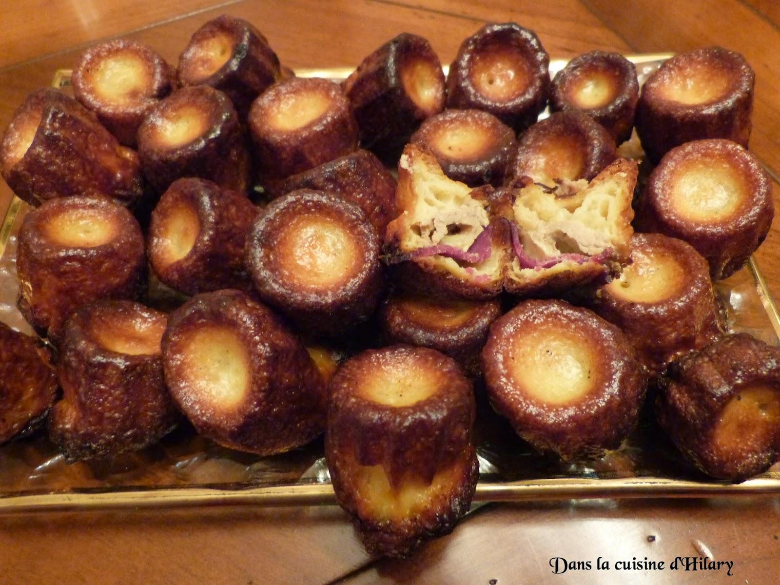 Cannelés aux deux canards (foie gras et magret fumé)