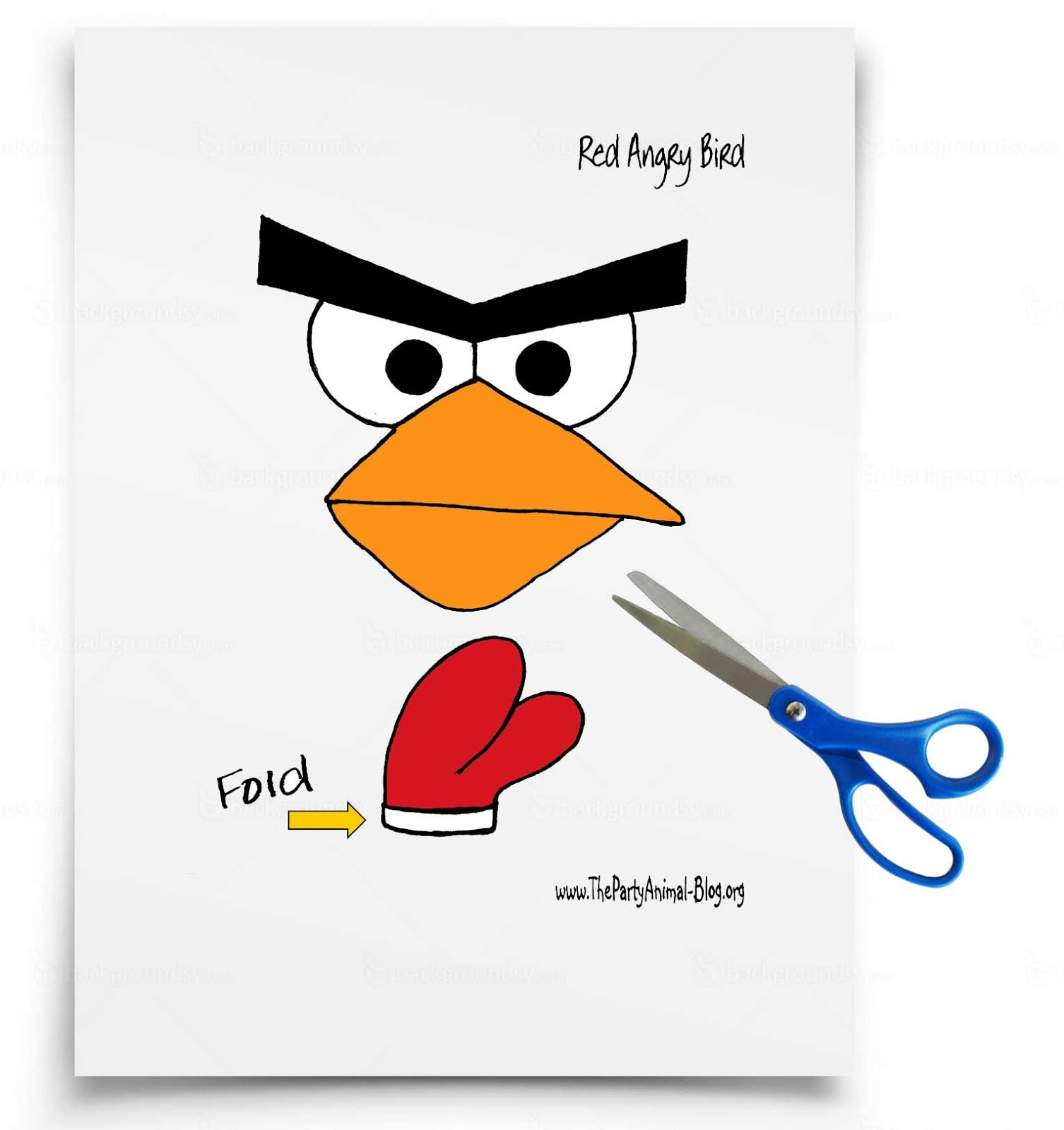It's just an image of Punchy Angry Bird Cut Outs