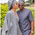 Adorable photo of Juliet Ibrahim and her man Iceberg Slim at they both attends his mum's burial ceremony