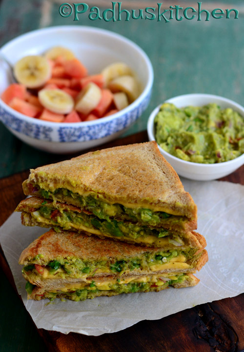 Vegetarian Avocado Sandwich-Indian Style