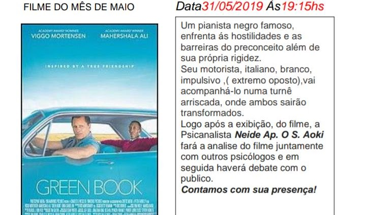 "CINEMA NO DIVÃ DEBATE ""CADERNO VERDE"""