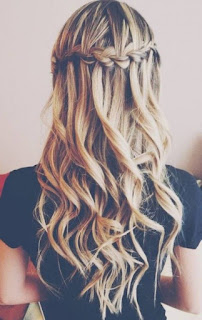 cute waterfall braids