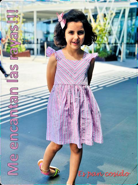 vestido de rayas patrón propio