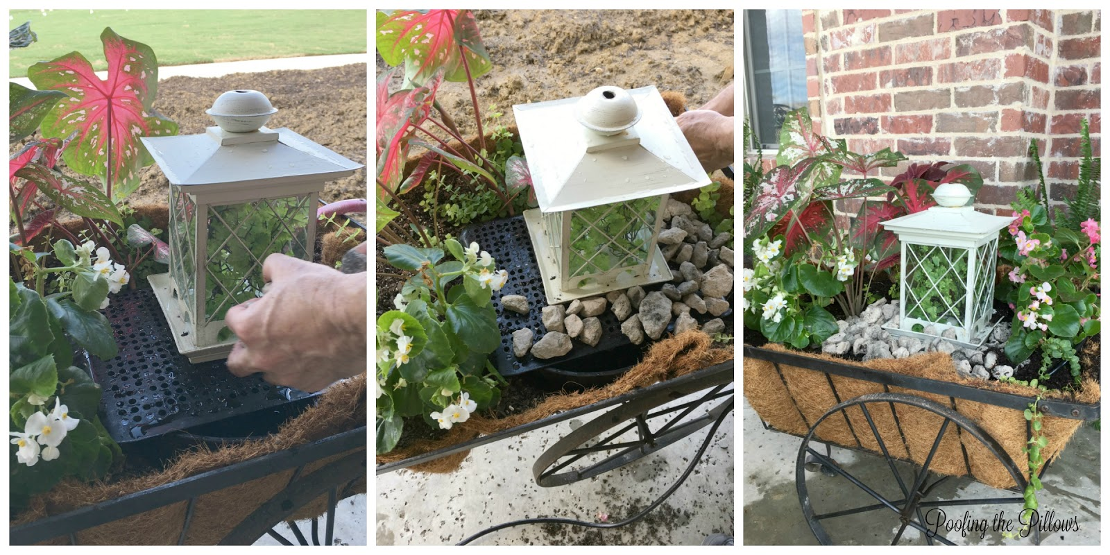 a diy fountain anyone can do and a giveaway winner poofing the