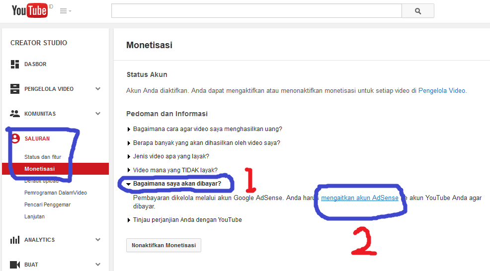 google adsense youtube