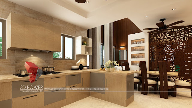 Beautiful Interior Elevation of a Kitchen