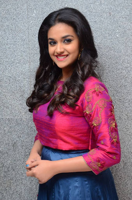 Keerthy Suresh Stills At Remo Movie Success Meet