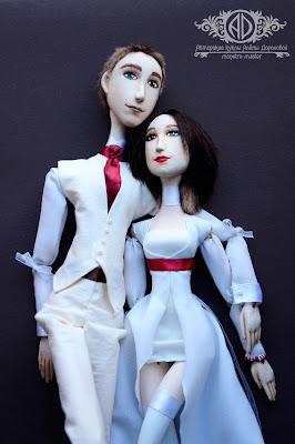ADdoll_Anna_Max_2. Анна и Макс. Портретные куклы-болтушки.