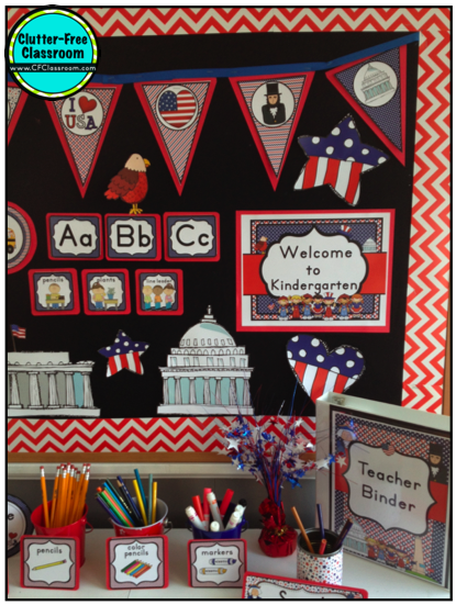 ... -Free Classroom: Patriotic Themed Classrooms -Classroom Theme Series