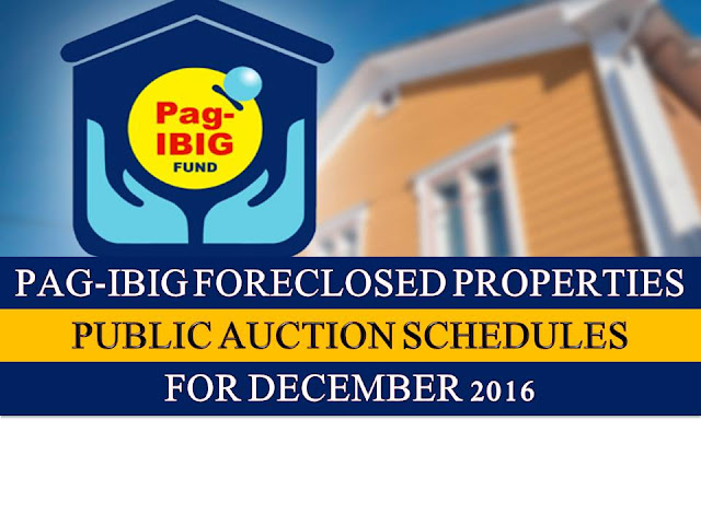 Pag IBIG fund acquired assets for sale in National Capital Region, Cebu, Iloilo and Davao shall be for sale through public auction, starting December 12 until December 21.  So if you are looking for prime properties, condominium units, lots, house and lots, townhouse and other properties, do not miss this opportunity.