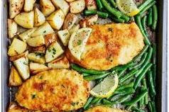 Crispy Sheet Pan Lemon Parmesan Garlic Chicken And Veggies