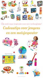 Op zoek naar inspiratie voor de verlanglijstjes voor Kerst en Sinterklaas? Bekijk dan mijn cadeautips voor jongens en een meisjespeuter eens!