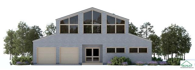 Denah Model Desain Gambar Rumah Minimalis Idaman Modern Tipe 387