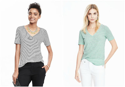 Banana Republic Short Sleeve Vee Tee $12 (reg $40)