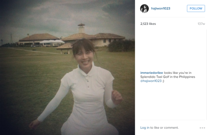 Ha Ji Won in Splendido Taal Golf Philippines