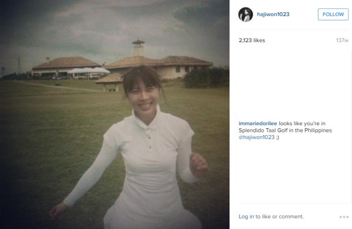 Ha Ji Won in Splendido Taal Golf Philippines