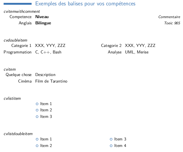 exemple code cv latex