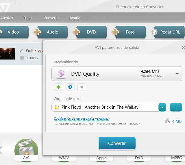 Vídeo Freemake Video Converter