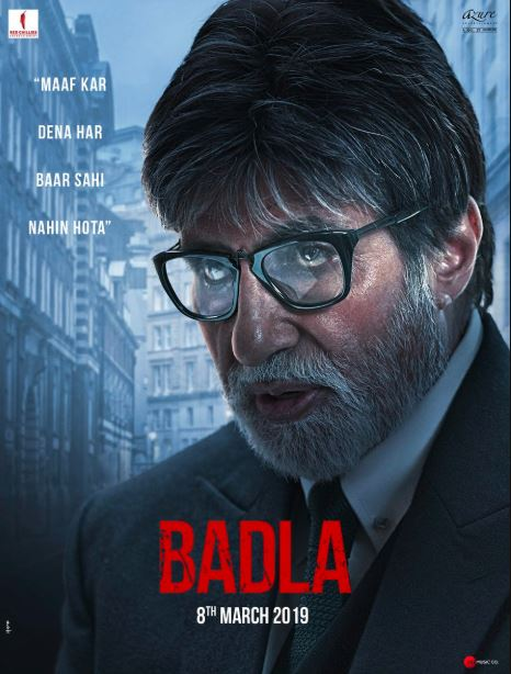 Badla Poster out, Badla Film First Look