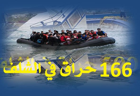"""166 شاب حاولوا """"الحرقة"""" عبر 11 قارب من سواحل الشلف"""