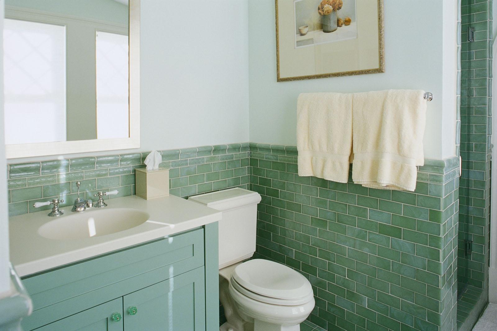 Ванная комната в зеленом цвете 2017: фото и советы