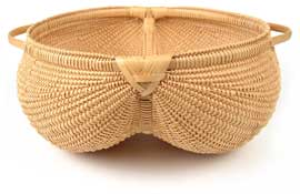 Cynthia Taylor White Oak Ribbed Basket