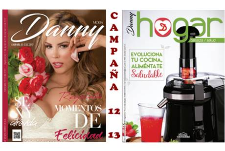 danny catalogo campaña 12 y 13  2017