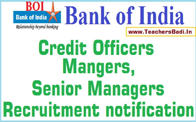 Bank of India,Credit Officers,Mangers,Senior Managers recruitment