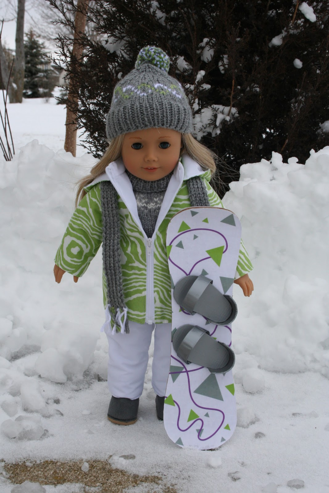 ag doll crafts arts and crafts for your american doll snowboard for 1029