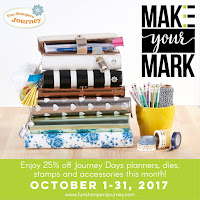 Make Your Mark - Planner stamps, dies, and accessories are all on sale in the month of October.