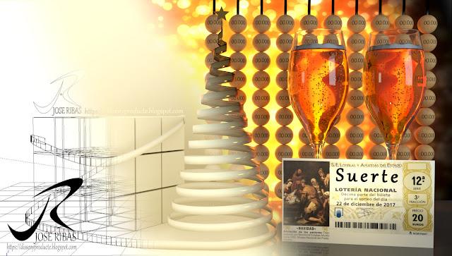 Renderización : Imagen Publicitaria Navidad Proceso de Renderización